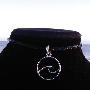 Silver Ocean Wave Necklace